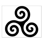 Triskele Symbol (Triple Spiral) Small Poster