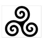 Triskele Symbol (Triple Spiral) Small Poster