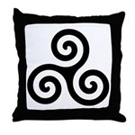 Triskele Symbol (Triple Spiral) Throw Pillow