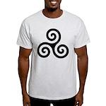 Triskele Symbol (Triple Spiral) Light T-Shirt