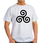Triskele Symbol (Triple Spiral) Light T-Shirt