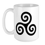 Triskele Symbol (Triple Spiral) Large Mug
