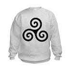 Triskele Symbol (Triple Spiral) Kids Sweatshirt