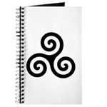 Triskele Symbol (Triple Spiral) Journal
