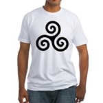 Triskele Symbol (Triple Spiral) Fitted T-Shirt