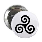 Triskele Symbol (Triple Spiral) Button