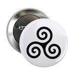 Triskele Symbol (Triple Spiral) Button