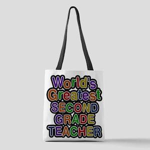 World's Greatest SECOND GRADE TEACHER Polyester To