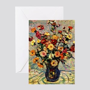 Prendergast - Still Life with Flower Greeting Card