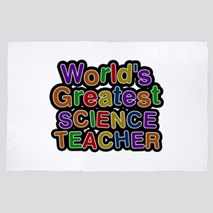 World's Greatest SCIENCE TEACHER 4x6 Rug