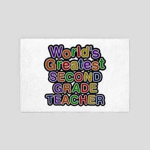 World's Greatest SECOND GRADE TEACHER 4x6 Rug