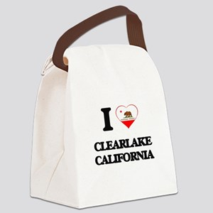 I love Clearlake California Canvas Lunch Bag