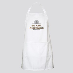 Oil Well Firefighter BBQ Apron