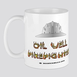 Oil Well Firefighter Mug