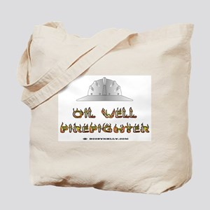 Oil Well Firefighter Tote Bag