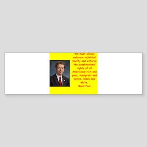 rand paul quote Bumper Sticker