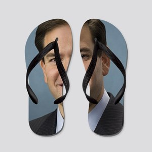 marco rubio portrait Flip Flops