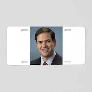 marco rubio portrait Aluminum License Plate