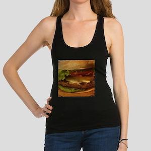 novelty hamburger Racerback Tank Top