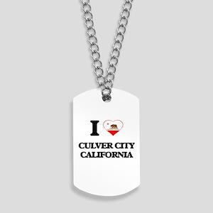 I love Culver City California Dog Tags