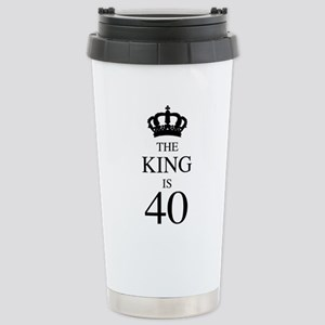 Happy 40th Birthday Dad Baby Bodysuit 1695 1999 The King Is 40 Stainless Steel Travel Mug