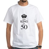 50 years old Mens Classic White T-Shirts