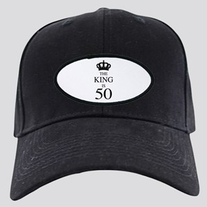 The King Is 50 Black Cap