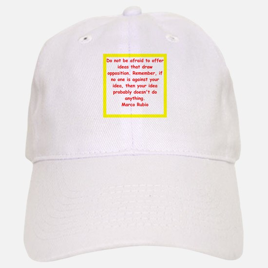 marco rubio quote Baseball Baseball Baseball Cap