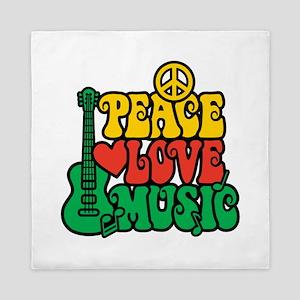 Reggae Peace Love Music Queen Duvet