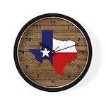 Great Texas on Medium Wood Wall Clock