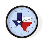 Great Texas on Sky Blue Wall Clock