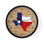 Great Texas Light Brown Barn Wood Wall Clock