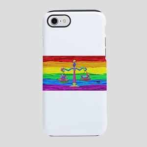 LIBRA Zodiac GAy Rainbow Art iPhone 7 Tough Case