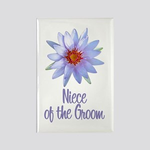 Lotus Groom's Niece Rectangle Magnet