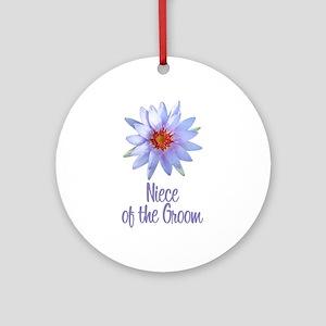 Lotus Groom's Niece Ornament (Round)