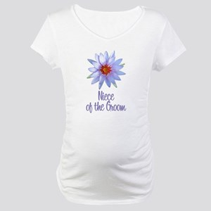 Lotus Groom's Niece Maternity T-Shirt