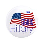 """Geaux Hillary 2016 - 3.5"""" Button (100 Pack)"""