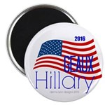 """Geaux Hillary 2016 - 2.25"""" Magnet (100 Magnet"""