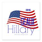 "Geaux Hillary 2016 Square Car Magnet 3"" X 3&q"