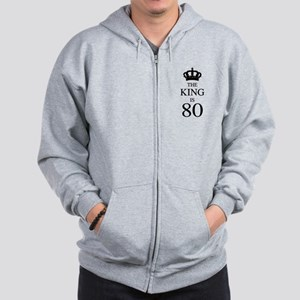 The King Is 80 Zip Hoodie