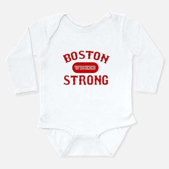 Cute Boston strong Long Sleeve Infant Bodysuit