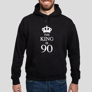 The King Is 90 Hoodie (dark)