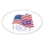Geaux Hillary 2016 Sticker (oval 10 Pk)