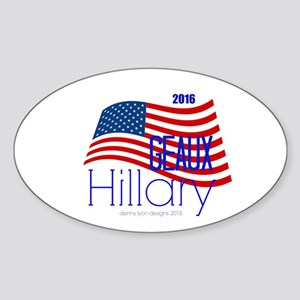 Geaux Hillary 2016 Sticker (oval)