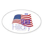 Geaux Hillary 2016 Sticker (oval)