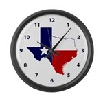 Great Texas on White Large Wall Clock