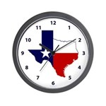 Great Texas on White Wall Clock