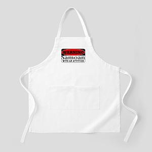 Warning! Samoan w/ an Attitud BBQ Apron