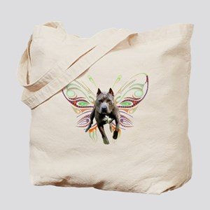 Pit Bull Butterfly Art Tote Bag
