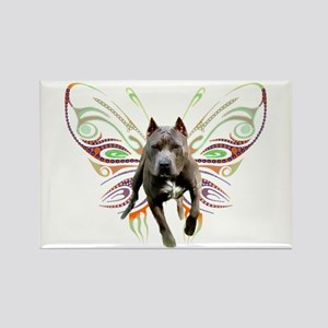 Pit Bull Butterfly Art Rectangle Magnet